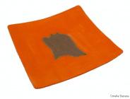 piatto Arancio - quadrato