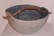 Ciotola Blu con legno