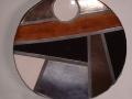 Piatto Mondrian con cerchio
